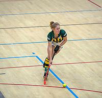 AMSTERDAM  - Mascha Sterk (hdm)  tijdens het starttoernooi zaalhockey in Sporthallen Zuid.    COPYRIGHT KOEN SUYK