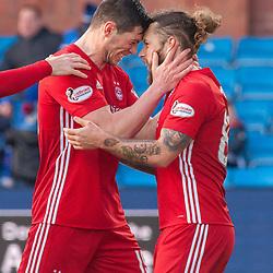 #19 Scott McKenna and #83 Stevie May (Aberdeen) celebrate - Kilmarnock v Aberdeen - Ladbrokes Premiership - 26 November 2017 - © Russel Hutcheson | SportPix.org.uk