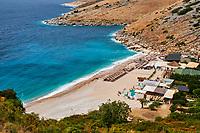 Albanie, province de Vlore, Himara, Llaman Bay, plage de Himara // Albania, Vlore province, Himara, Llaman Bay, Himara Beach
