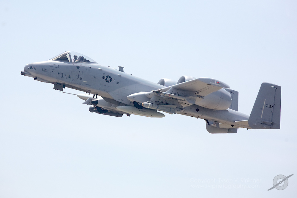 Rare sight of an A-10 showing no unit markings