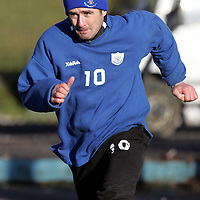 St Johnstone Training...21.01.05<br />David Hannah working hard during training this morning<br /><br />see story by Gordon Bannerman Tel: 01738 553978 or 07729 865788<br />Picture by Graeme Hart.<br />Copyright Perthshire Picture Agency<br />Tel: 01738 623350  Mobile: 07990 594431
