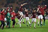 esultanza a fine gara Milan Celebration <br /> Milano 27-12-2017 Stadio Giuseppe Meazza in San Siro Calcio Coppa Italia Milan - Inter foto Image Sport/Insidefoto