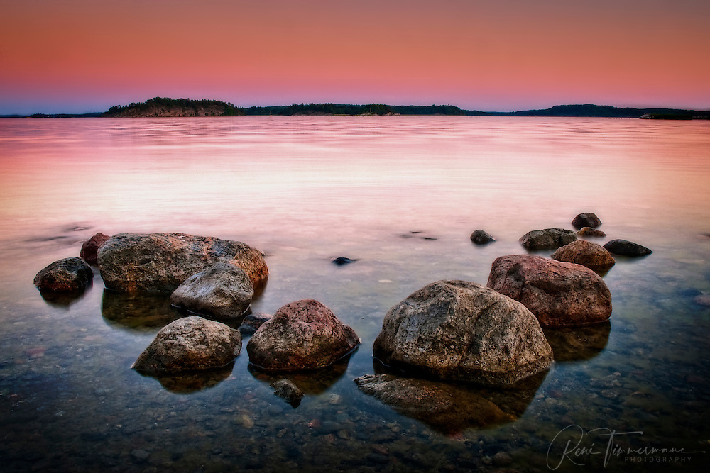 Rocks in the Farstanäs archipelago in Järna in the mid-east of Sweden.