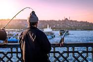 Fishing at the Galata bridge
