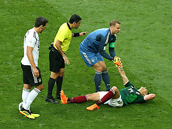 June 17, 2018 - Moscow, Russia - June 17, 2018, Russia, Moscow, FIFA World Cup, First round, Group F, Germany vs Mexico at the Luzhniki stadium. Player of the national team Manuel Peter Neuer (Credit Image: © Russian Look via ZUMA Wire)