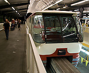 The Seattle Center Monorail was built for the 1962 Seattle World's Fair to provide a crucial link between the fairgrounds and the amenities of downtown Seattle, Washington, USA.