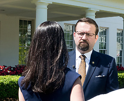June 9, 2017 - Washington, DC, United States - Sebastian Gorka, Deputy Assistant to President Donald Trump, is interviewd outsside of the West Wing Portico (North Lawn) of the White House, on Friday, June 9, 2017. (Credit Image: © Cheriss May/NurPhoto via ZUMA Press)