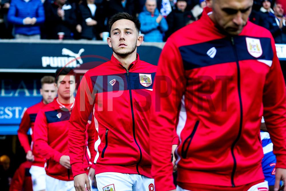 Josh Brownhill of Bristol City walks out - Rogan/JMP - 03/11/2018 - Madejski Stadium - Reading, England - Reading FC v Bristol City - Sky Bet Championship.