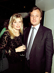 The MARQUESS OF MILFORD HAVEN and MRS CLARE WENTWORTH-STANLEY at a party on April 22nd 1997.   LXW 33