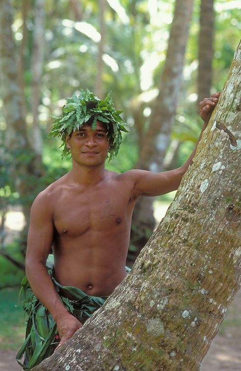 "Francis Tithin, a guide at ""Jungle Beach Adventure"", Urunao Beach, Island of Guam.  ."