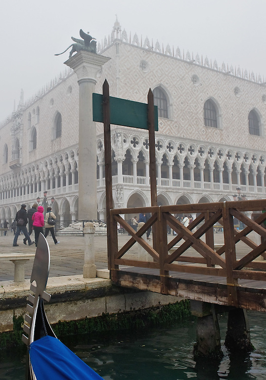 VENICE, ITALY - NOVEMBER 19: A general view of  St Mark's Square as thick fog shrouds the city, on November 19, 2011 in Venice, Italy. Venice woke up this morning under a heavy blanket of fog adding to the atmoshere of the city. HOW TO LICENCE THIS PICTURE: please contact us via e-mail at sales@xianpix.com or call our offices London   +44 (0)207 1939846 for prices and terms of copyright. First Use Only ,Editorial Use Only, All repros payable, No Archiving.© MARCO SECCHI
