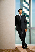 Sarmad Zok, Chief Executive Officer of Kingdom Hotel investments at their offices at Dubai International Financial Centre..By Siddharth Siva, Dubai, United Arab Emirates on October 31, 2006.
