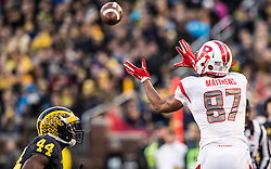 The Rutgers Scarlet Knights take on the Michigan Wolverines at Michigan Stadium in Ann Arbor, MI on Saturday afternoon, November 7, 2015.<br /> Ben Solomon/Rutgers Athletics