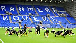 Bristol Rovers warm up - Photo mandatory by-line: Neil Brookman/JMP - Mobile: 07966 386802 - 08/11/2014 - SPORT - Football - Birkenhead - Prenton Park - Tranmere Rovers v Bristol Rovers - FA Cup - Round One