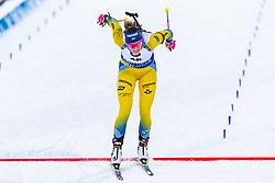 March 8, 2019 - –Stersund, Sweden - 190308 Hanna Öberg of Sweden crosses the finish line in the Women's 7.5 KM sprint during the IBU World Championships Biathlon on March 8, 2019 in Östersund..Photo: Johan Axelsson / BILDBYRÃ…N / Cop 245 (Credit Image: © Johan Axelsson/Bildbyran via ZUMA Press)