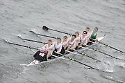 Chiswick. London.  Bedford Modern, approach the start line as they compete in the 2011 Schools Head of the River Race, Mortlake to Putney, over the  Championship Course.Taken from Chiswick Bridge.  Thursday  17/03/2011 [Mandatory Credit, Peter Spurrier/Intersport-images]