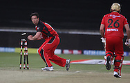 Gary Putland  stumps Dillon du Preez  during match 11 of the Airtel CLT20 between The South Australian Redbacks and The Royal Challengers Bangalore held at Kingsmead Stadium in Durban on the 17 September 2010..Photo by: Steve Haag/SPORTZPICS/CLT20.