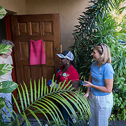 NORTH MIANI, FLORIDA, NOVEMBER 8, 2016<br /> Move On volunteers Francie Peake and  Nelzenna Andrews talk to a resident as they go knocking on doors of homes of voters in the North Miami area as they canvass for democratic votes.<br /> (Photo by Angel Valentin/Freelance)