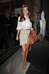JAYNE BLIGHT at a private view of a new collection of bronzes and original paintings by artist Jonathan Wylder and his muse Jennifer Wade held at the V&A Museum, London on 27th April 2011.