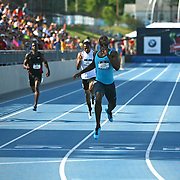 MERRITT - 13USA, Des Moines, Ia.- LaShawn Merritt coasted home victorious in the 400.  Photo by David Peterson