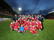 Grove celebrate with the trophy - Senior Johnston Trophy Final<br /> Grove (red) v Morgan (blue)<br /> <br />  - &copy; David Young - www.davidyoungphoto.co.uk - email: davidyoungphoto@gmail.com