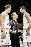 Viktor Gaddefors Arbitro Filippini Mitchell Watt<br /> Pasta Reggia Juve Caserta - The Flexx Pistoia Basket<br /> Lega Basket Serie A 2016/2017<br /> Caserta 24/10/2016<br /> Foto Ciamillo-Castoria