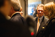 """Photo by Matt Roth.Assignment ID: 10137379A..Former Senate Majority leader (South Dakota) Tom Daschle and his wife Linda at the Buffy and Bill Cafritz, Ann and Vernon Jordan, Vicki and Roger Sant inaugural """"Bi-Partisan Celebration"""" at the Dolley Madison Ballroom at the Madison Hotel in Washington, D.C. on Sunday, January 20, 2013."""