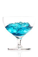 Studio shot of blue cracao drink