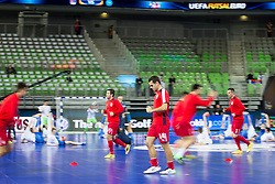 Mladen Kocic and Slobodan Rajcevic of Serbia before futsal quarter-final match between National teams of Kazakhstan and Serbia at Day 7 of UEFA Futsal EURO 2018, on February 5, 2018 in Arena Stozice, Ljubljana, Slovenia. Photo by Urban Urbanc / Sportida