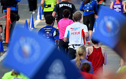 01-11-2015 USA: NYC Marathon We Run 2 Change Diabetes day 4, New York<br /> De dag van de marathon, 42 km en 195 meter door de straten van Staten Island, Brooklyn, Queens, The Bronx en Manhattan / Peter