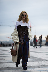 March 4, 2018 - Paris, FRANCE - Haider Ackermann.PEOPLE ON STREET, PPL, STREETSTYLE, WOMAN, PARIS FASHION WEEK 2018 WOMEN READY TO WEAR FOR FALL WINTER AUTUMN HERBST FRANCE.PAstrW18 (Credit Image: © PPS via ZUMA Wire)