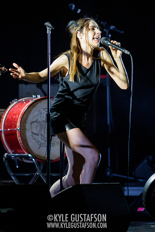VIENNA, VA - July 21st, 2017 - PJ Harvey performs at the Filene Center at Wolf Trap in Vienna, VA. A trip to Washington, D.C. in 2016 inspired much of Harvey's latest album, The Hope Six Demolition Project. (Photo by Kyle Gustafson / For The Washington Post)