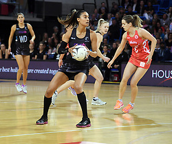 New Zealand's Maria Tutaia against England in the Taini Jamison Trophy netball series match at Te Rauparaha Arena, Porirua, New Zealand, Thursday, September 07, 2017. Credit:SNPA / Ross Setford  **NO ARCHIVING**