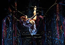 Rapunzel, Sadler's Wells, London, Great Britain. Choreographed by Liv Lorent, Ballet Lorent, scenario by Carol Ann Duffy, Philippa White as Rapunzel, Gavin Coward as Prince, March 29, 2013. Photo by Elliott Franks / i-Images..