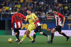 January 20, 2019 - Vila-Real, Castellon, Spain - Alfonso Pedraza of Villarreal and Dani Garcia of Athletic Club de Bilbao during the La Liga Santander match between Villarreal and Athletic Club de Bilbao at La Ceramica Stadium on Jenuary 20, 2019 in Vila-real, Spain. (Credit Image: © AFP7 via ZUMA Wire)