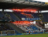 FODBOLD: FC København-tifo før kampen i ALKA Superligaen mellem Brøndby IF og FC København den 17. april 2017 på Brøndby Stadion. Foto: Claus Birch