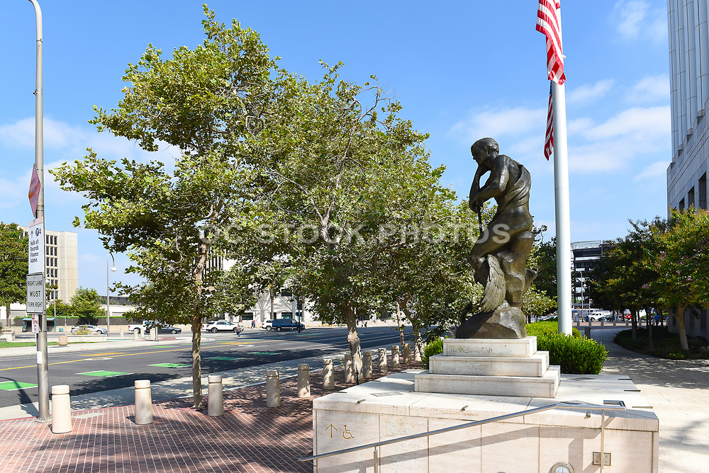 Bronze Statue at the Ronald Reagan United States Courthouse in Santa Ana California