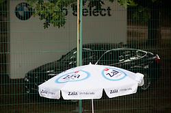 Sponsors during Davis Cup Slovenia vs. South Africa on September 15, 2013 in Tivoli park, Ljubljana, Slovenia. (Photo by Vid Ponikvar / Sportida.com)