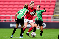 Jasmine Matthews of Bristol City is challenged by Ellie Brazil of Brighton and Hove Albion Women - Mandatory by-line: Ryan Hiscott/JMP - 07/09/2019 - FOOTBALL - Ashton Gate - Bristol, England - Bristol City Women v Brighton and Hove Albion Women - FA Women's Super League