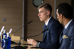 July 23, 2018 - Madrid, Spain - Andriy Lunin during press conference of his presentation as new Real Madrid goalkeeper at Santiago Bernabéu Stadium in Madrid, Spain. July 23, 2018. (COOLMEDIA/BorjaB.Hojas) (Credit Image: © Coolmedia/NurPhoto via ZUMA Press)