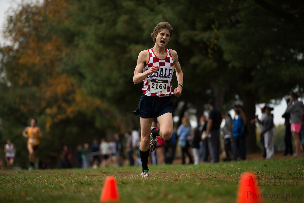 DeSales University Zach Kaminski - Collegiate Track Conference  Cross-Country Men's Championship at Gloucester County College in Sewell, NJ on Saturday October 19, 2013. (photo / Mat Boyle)