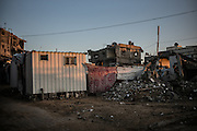 North border of Gaza was heavily hit buy the conflict