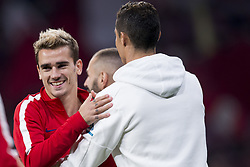 November 18, 2017 - Madrid, Madrid, Spain - Antonie Griezmann, Cristiano Ronaldo during the match between Atletico de Madrid and Real Madrid, week 12 of La Liga at Wanda Metropolitano stadium, Madrid, SPAIN - 18th November of 2017. (Credit Image: © Jose Breton/NurPhoto via ZUMA Press)