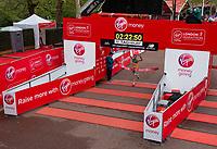 Michael Roeger AUS celebrates as he crosses the finish line to win the T46 Men World Para Athletics Marathon Championships. The Virgin Money London Marathon, 28 April 2019.<br /> <br /> Photo: Joe Toth for Virgin Money London Marathon<br /> <br /> For further information: media@londonmarathonevents.co.uk