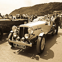 Pendine Sands, 21 July 2015, commemorating the 90th anniversary of Sir Malcolm Campbells new world landspeed record where he achieved 150miles/hr in his 350hp Sunbeam Blue Bird