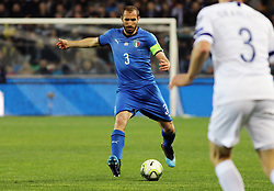 "March 23, 2019 - Udine, Italia - Foto LaPresse/Andrea Bressanutti.23/03/2019 Udine (Italia).Sport Calcio.Italia vs. Finlandia - European Qualifiers - Stadio ""Dacia Arena"".Nella foto: chiellini..Photo LaPresse/Andrea Bressanutti.March  23, 2019 Udine (Italy).Sport Soccer.Italy vs Finland - European Qualifiers  - ""Dacia Arena"" Stadium .In the pic: chiellini (Credit Image: © Andrea Bressanutti/Lapresse via ZUMA Press)"