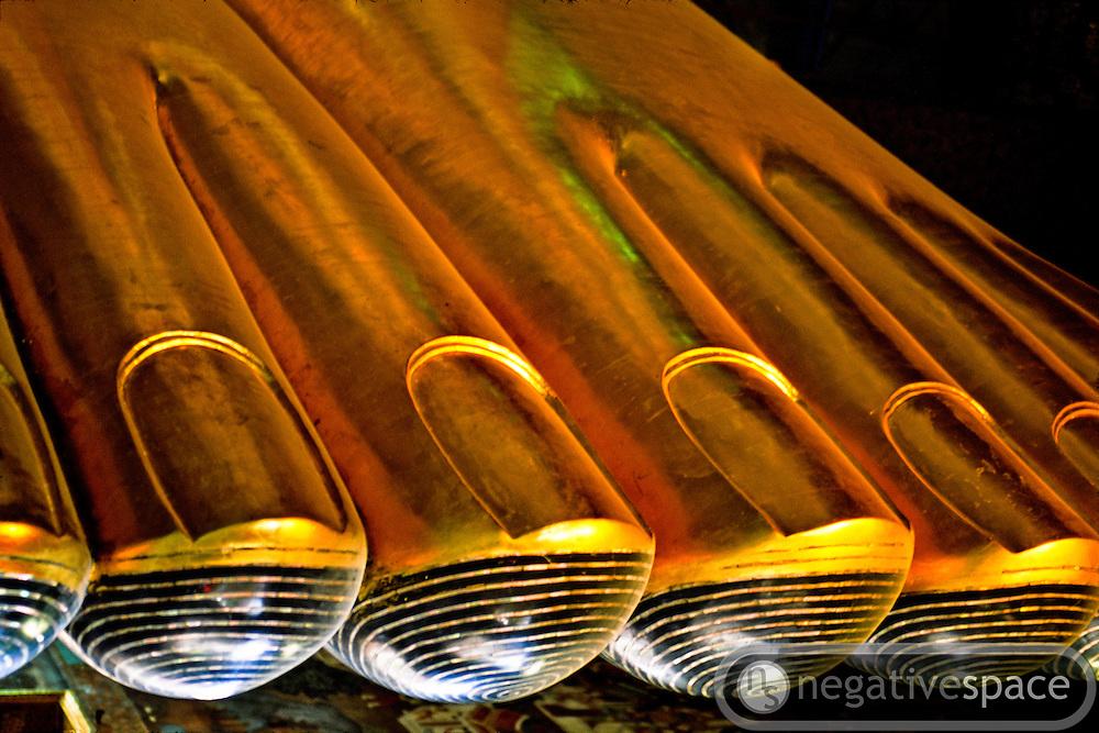 Toes of the Reclining Buddha, Wat Po Monastery, Bangkok, Thailand