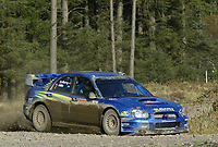 AUTO - WRC 2003 - GREAT BRITAIN RALLY 20031109 - PHOTO : FRANCOIS BAUDIN / DIGITALSPORT<br />