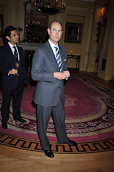 HRH The EARL OF WESSEX at a reception to launch Films Without Borders held The Lanesborough Hotel, London on 8th October 2009.