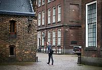 Nederland, Den Haag, 20 maart 2017 -  <br /> Verkenner Edith Schippers ontvangt maandag de fractievoorzitters in de Tweede Kamer. <br /> D66 fractievoorzitter Alexander Pechtold na afloop van zijn gesprek bij verkenner Edith Schippers in de Stadhouderskamer.  Foto; Phil Nijhuis
